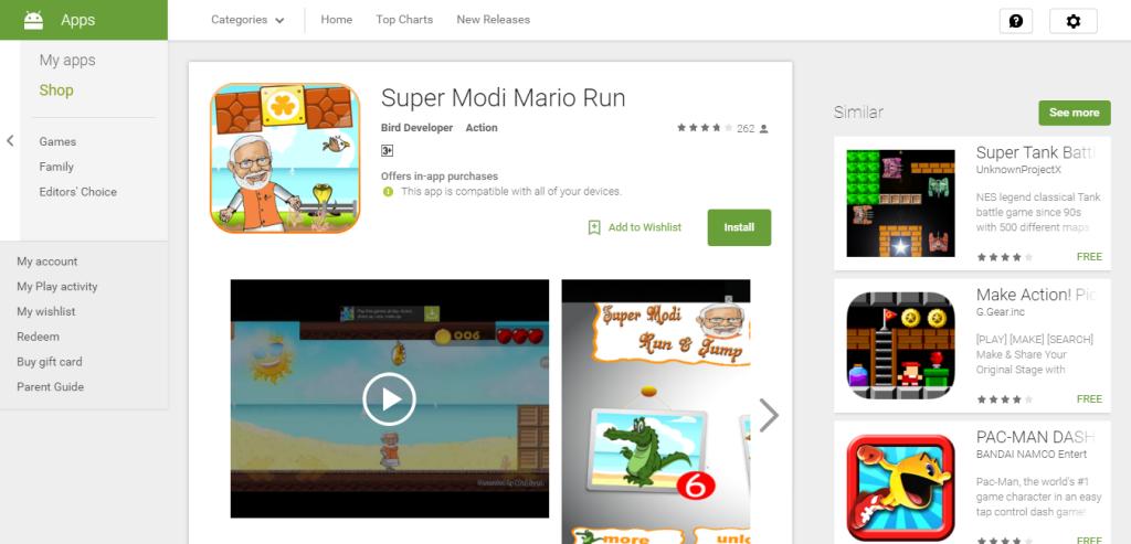 Super Modi Mario Run