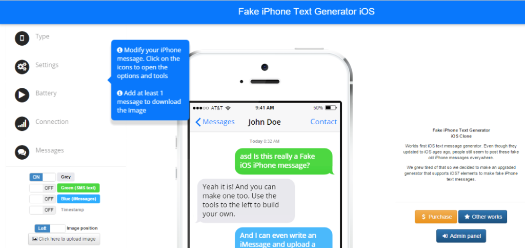 iphone fake text generator2