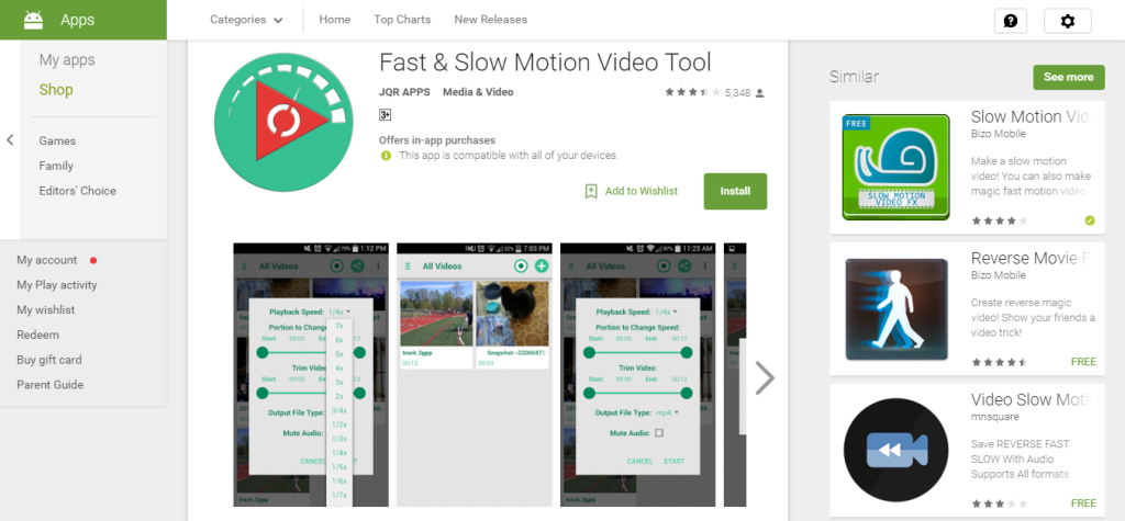 Fast & Slow Motion Video Tool