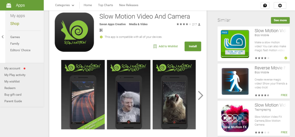 Slow Motion Video And Camera