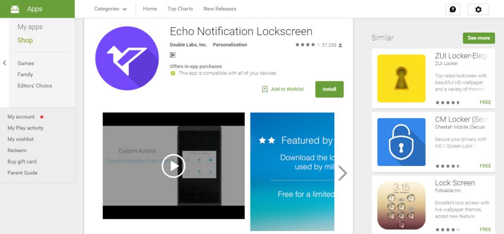 echo notification