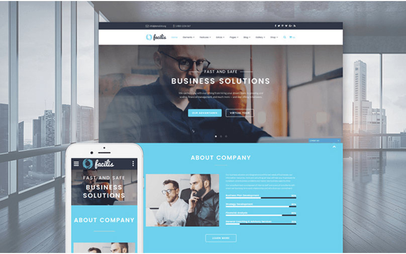 facilis-business-solutions-website-template
