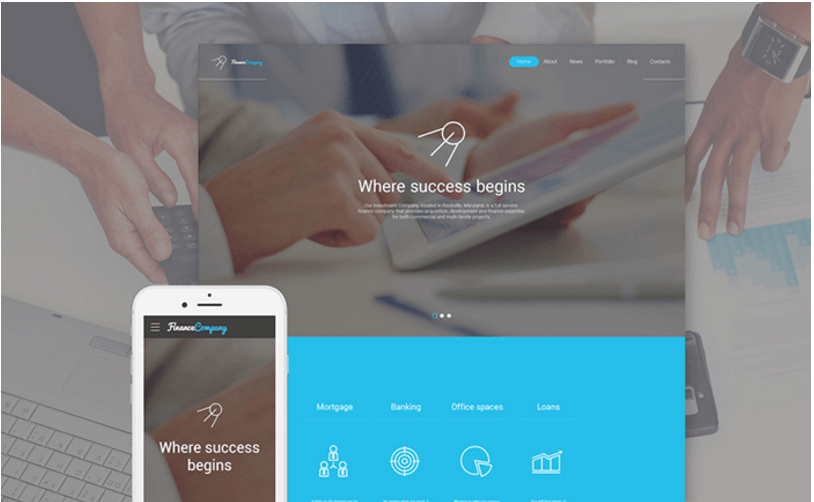 finance-company-website-template