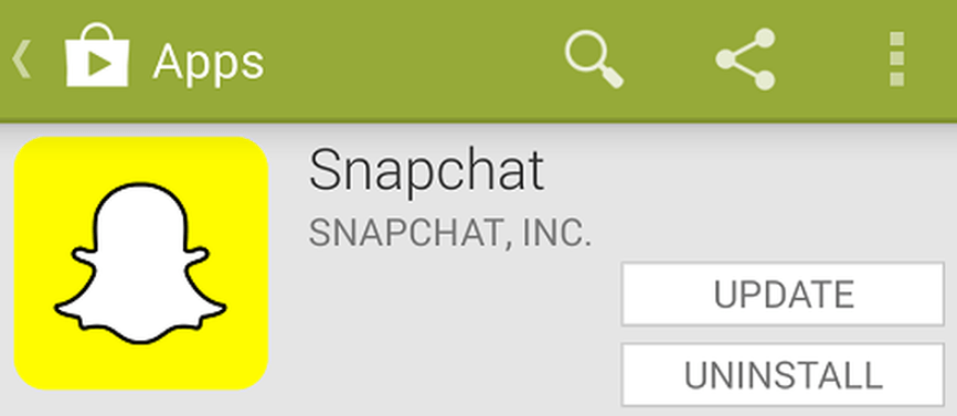 how to delete snapchat update