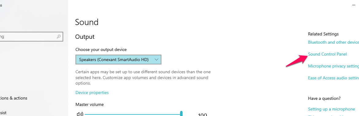 Change the sound effects on Windows 10