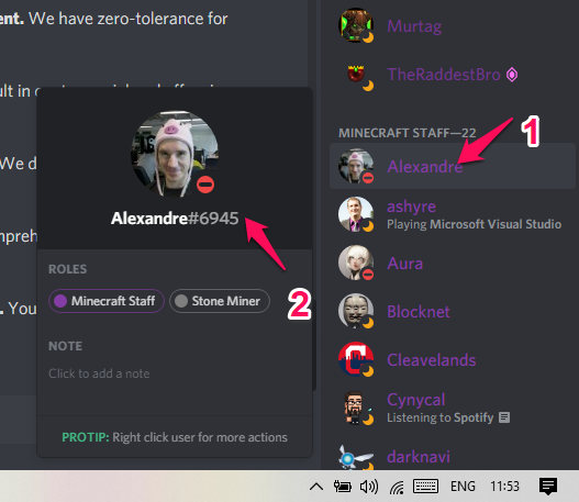 access to the tag number of the person you want to add on Discord