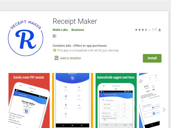 Receipt Maker